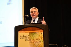 Figure 2. Rick Kolano, INCE-USA President, Welcoming Conference Participants