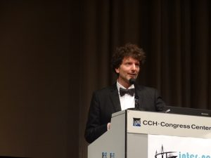 Photo 14. Marc Schönwiesner Presenting Closing Plenary Lecture