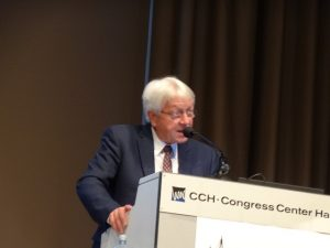 Photo 6. Joachim Scheuren, the President of the I-INCE Welcoming all to Conference